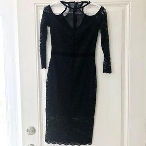 Express Black Lace Sheath Dress - size 0